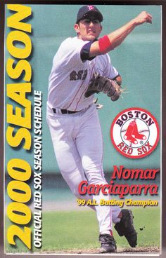 2000 BOSTON RED SOX BUDWEISER BEER BASEBALL POCKET SCHEDULE NOMAR ON COVER #Schedule