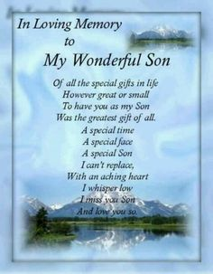 ♡ Forever in my heart ♡ Miss you my son ♡ ~Love you to the moon and back, to infinity and beyond, forever and ever~Ricky~