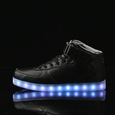 1b1791621430f Black High-Top Light Up Led Shoes - Flashing.