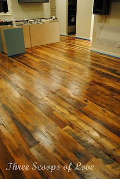 Oh I want this floor!!!!  Love old barnwood!!!!