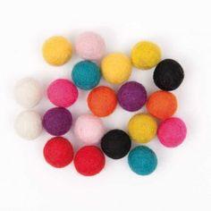 Filzkugeln-Mix multicolor 1,5cm 20 Stück