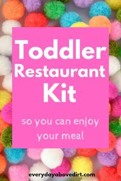 Toddler Restaurant Kit Toddlers are busy all the time! A great way to keep your toddler entertained while learning at a restaurant is with a Toddler Restaurant Kit. Then you can actually enjoy your meal! Toddler Play, Toddler Learning, Baby Play, Toddler Crafts, Baby Kids, Infant Activities, Learning Activities, Activities For Kids, Parenting Toddlers