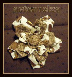 ARTEMELZA - Arte e Artesanato: Fuxico com hexágono irregular.