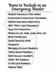 Emergency Preparedness Binder, Family Emergency Binder, Emergency Preparation, Emergency Supplies, Disaster Preparedness, In Case Of Emergency, Life Binder, Funeral Planning, Survival Tips