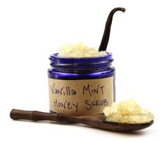 VANILLA MINT HONEY SCRUB: This body scrub is so easy to make & smells amazing. It leaves your skin feeling refreshed but not too minty as the soft vanilla bean aroma lightly perfumes your skin. Honey is a luxurious ingredient that helps moisturize, nourish, & protect the skin with its antioxidant, antimicrobial, and humectant properties.