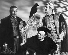 The Raven: Roger Corman treat - funny and camp; Boris Karloff is such a sweetie. His real name was William Pratt. Jack Nicholson's first film role, I believe.