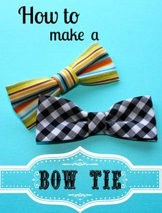Bow Tie Tutorial- Making Life Whimsical. Hmmm...not a bad idea for a shower game/activity.