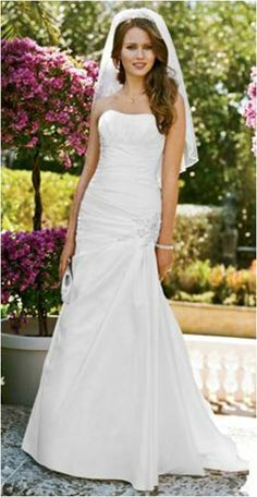 Ivory Chiffon Chiffon A Line Gown With Draped Bodice V9409 Formal