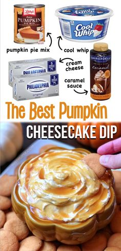 Caramel Cheesecake Pumpkin Dip (The BEST Fall Dessert!)