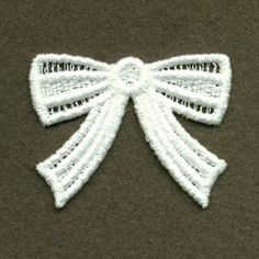 FSL Mini Bow 1 | FSL - Freestanding Lace | Machine Embroidery Designs | SWAKembroidery.com Ace Points Embroidery