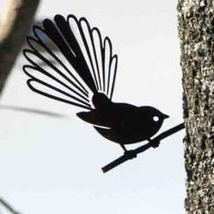 A4 size  Piwakawaka (Fantail) sculpture for your tree