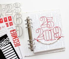 December Daily 2019 from The Picinic Basket featuring stamps and papers from Kelly Purkey Shop My Kind Of Love, Just Love, Page Protectors, Letter Beads, December Daily, Gold Letters, Red Glitter, Cover Pages, Life Inspiration