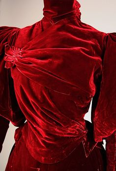 Red Velvet Dress by the House Worth (Detail)