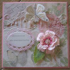 M.K - achtergrond Joy, mallen Marianne,Joy,zelf gemaakte bloem met mal van Noor.