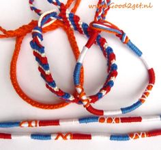 Hup Holland! armbandjes www.Good2get.nl Holland, Beaded Necklace, Ring, Jewelry, Fashion, Accessories, Jewellery Making, Moda, Rings