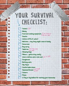 For a bit of fun, send festival survival kit checklists to your guests before the event to get them excited..