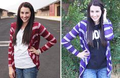 Stripe Open Cardigan-4 Color Options 51% off at Groopdealz