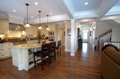 weaver kitchen w/coffered ceiling. Love.