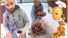 ВЛОГ: Простой рецепт. Картошка в мундире Готовим в казане на костре ЗИМА...