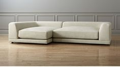 """From CB2. Comes in right arm and left arm, each piece $999. If right-arm will fit in NE corner of Helena Office (it's 65"""" W x 48"""" D x 24"""" H) then it's a great choice for the lounge sofa that also sleeps a guest! Comes in 46 different color/fabric choices."""