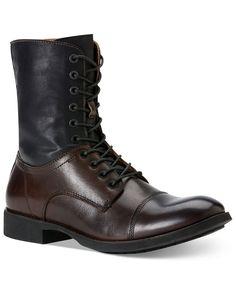 Calvin Klein Jeans Shoes, Hanny Contrast Shaft Lace-Up Boots - Boots - Men - Macy's