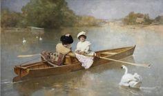 Boating on the Seine - Ferdinand Heilbuth - The Athenaeum