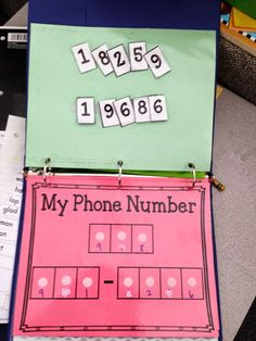 Fun way to practice your phone number -and other Morning Work Binders (scheduled via http://www.tailwindapp.com?utm_source=pinterest&utm_medium=twpin&utm_content=post1415731&utm_campaign=scheduler_attribution)
