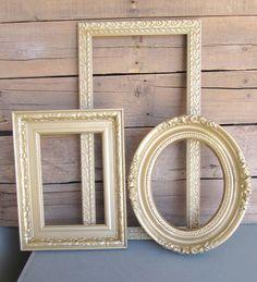 Chunky ORNATE GOLD Vintage Upcycled Frame Set of 3... by BeautiSHE