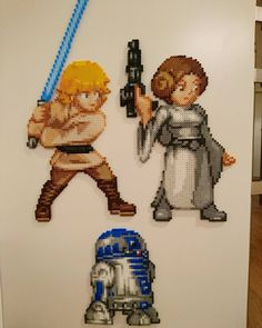 Luke Skywalker, Princess Leia and R2D2 by magicpearls -   Original sprites made by Orkimedes on DeviantArt. #Star_Wars