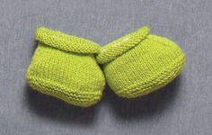 Tricô no meu cantinho: Sapatinho de tricô Verde