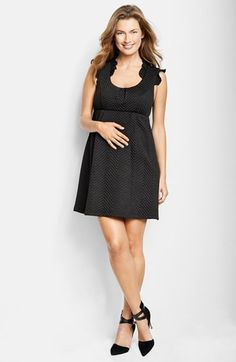 Free shipping and returns on Maternal America Ruffled Maternity Dress at Nordstrom.com. Ruffled sleeves top off the sweet silhouette of an intricately textured babydoll dress.