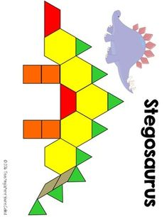Teaching Where You're Called Dinosaur Theme Preschool, Dinosaur Activities, Fun Activities For Toddlers, Preschool Learning, Preschool Activities, Dinosaur Projects, Dinosaur Crafts, Pattern Block Templates, Pattern Blocks