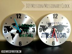 The REAL Housewives of Riverton: Mission/Missionary DIY Clock!!!