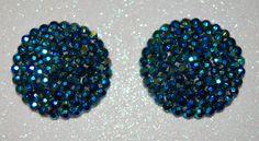 Peacock sheen crystal nipple pasties by JosieBunniesBasket on Etsy, $25.00