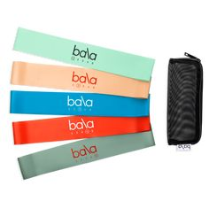 Bala Resistance Bands | Set of 5 Natural Latex, Tone It Up, Everyday Items, Aerobics, Black Mesh, Pilates, At Home Workouts, Health And Wellness, Improve Yourself