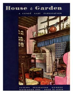 House & Garden Cover - September 1930by Pierre Brissaud ~Via Julie Schendel