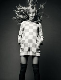 Swinging Sixties Style x Cool pose, hair blowing around - movement ...
