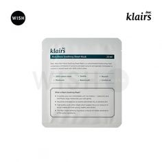 KLAIRS | Rich Moist Soothing Sheet Mask - Erase your wrinkles on face
