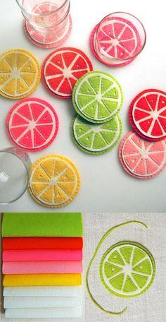 Cute Summer Coasters. DIY
