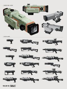 The Art of Fallout 4 - /// Vault 13 — ЖЖ Fallout Weapons, Fallout Lore, Fallout Props, Fallout Fan Art, Fallout Concept Art, Fallout Cosplay, Sci Fi Weapons, Weapon Concept Art, Fantasy Weapons