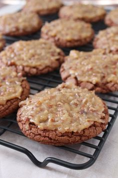 German Chocolate Cookies by Love & Confections http://loveandconfections.blogspot.com/2014/02/german-chocolate-cookies.html
