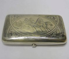 Russian Silver and Niello Cigarette Case 1895