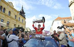 Handzus parades the Cup through his hometown of Banska Bystrica, Slovakia.