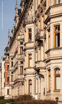 Chemnitz-Kaßberg. The neighborhood belongs to the largest Gründerzeit and Art Nouveau neighborhoods in Germany.