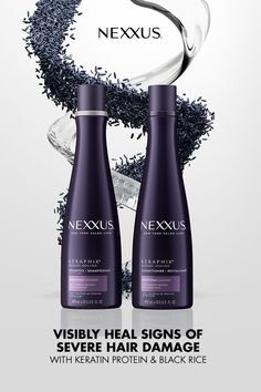 Nexxus Keraphix, for severely damaged hair. Damaged Hair Repair, Wig Hairstyles, Haircuts, Hair Health, Hair Trends, New Hair, Natural Hair Styles, Natural Beauty, Hair And Nails
