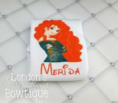 Items similar to Merida/ Brave Inspired Embroidered Shirt/ Princess inspired Embroidered T-shirt/ Toddler T-shirt on Etsy Merida, Iron On Patches, Lace Trim, Brave, Delicate, Messages, Embroidery, Stitch, Christmas Ornaments