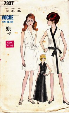 Vintage 1960s Vogue Dress pattern 7337 by allthepreciousthings, $14.00