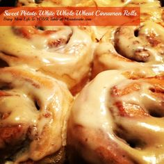 Sweet Potato Whole Wheat Cinnamon Rolls
