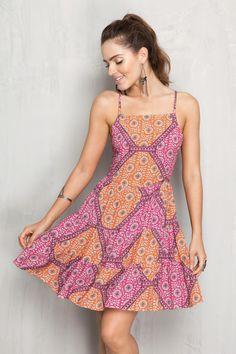 Vestido estampa mantra   Dress to