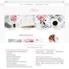 Chloé, un thème #Blogger pour #blogueuse à la recherche d'un univers délicat & #minimaliste.